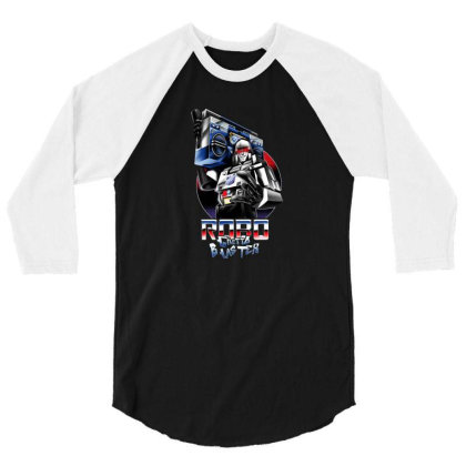 Robo Ghetto Blaster 3/4 Sleeve Shirt Designed By Cuser3730