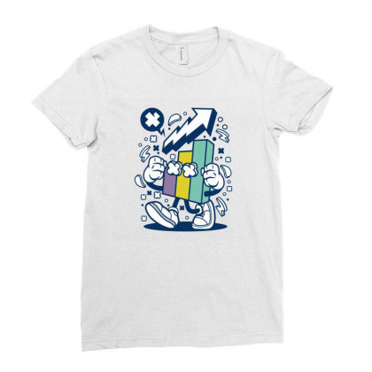Chart Ladies Fitted T-shirt Designed By Rulart