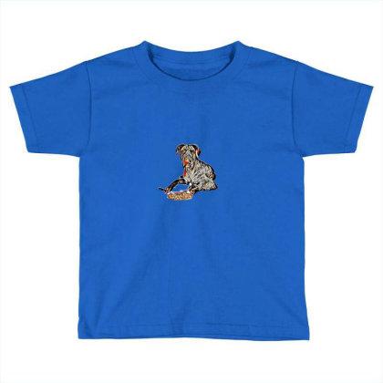 A Blue Great Dane Dog Laying Toddler T-shirt Designed By Kemnabi