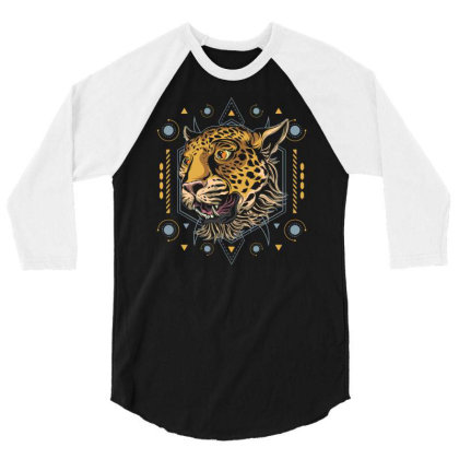 Cheetah 3/4 Sleeve Shirt Designed By Januarart