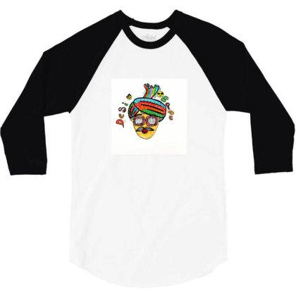 Desi Bapu 3/4 Sleeve Shirt Designed By _silent_scribbles_