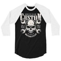 custom motorcycles biker 3/4 Sleeve Shirt | Artistshot
