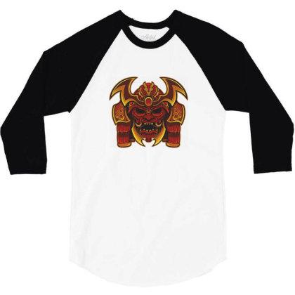 Warrior Skull 3/4 Sleeve Shirt Designed By Estore