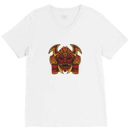 Warrior Skull V-neck Tee Designed By Estore