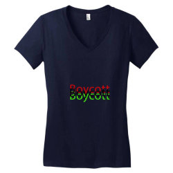 Exclusive Boycott T Shirts Women's V-Neck T-Shirt | Artistshot