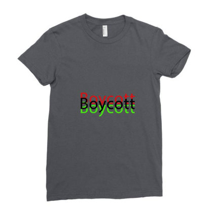 Exclusive Boycott T Shirts Ladies Fitted T-shirt Designed By Chiks