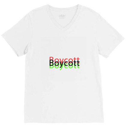 Exclusive Boycott T Shirts V-neck Tee Designed By Chiks