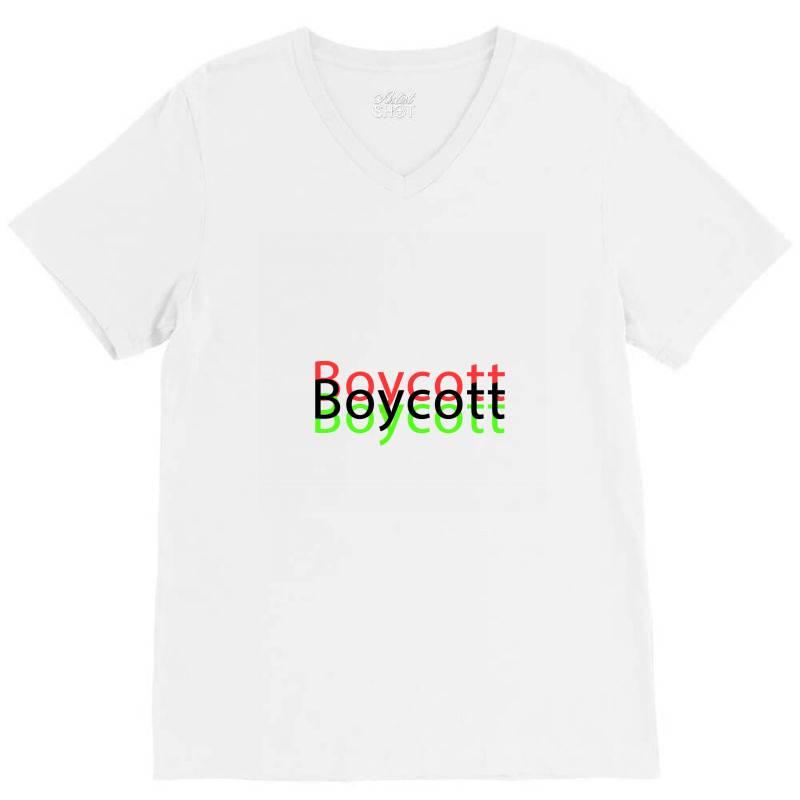 Exclusive Boycott T Shirts V-neck Tee   Artistshot