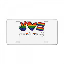 peace love equality License Plate | Artistshot