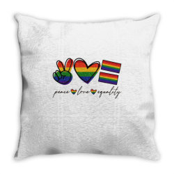peace love equality Throw Pillow | Artistshot