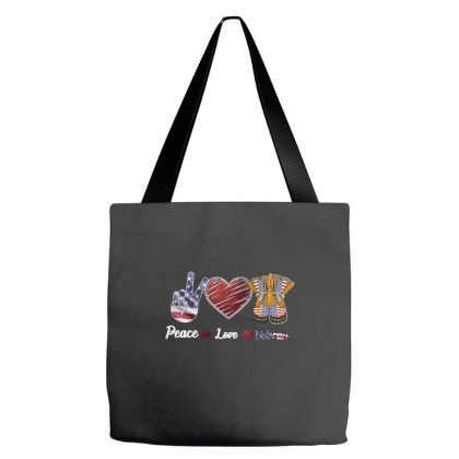 Peace Love Veteran Tote Bags Designed By Bettercallsaul