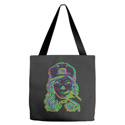 The Tatoo Girl And Hat Slim Fit T Shirt Tote Bags Designed By Babydoll