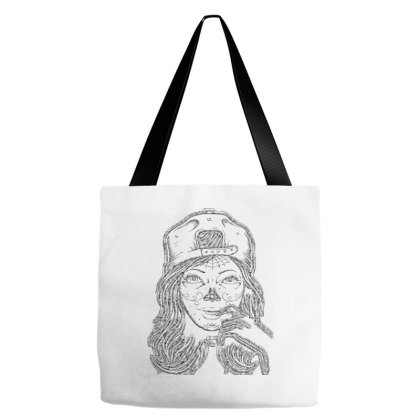 The Tatoo Girl And Hat T Shirt Tote Bags Designed By Babydoll