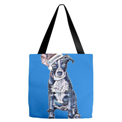 Mixed Breed Black And White P Tote Bags Designed By Kemnabi