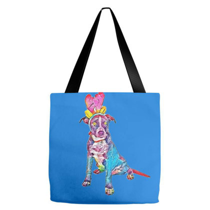 A Cute Black Crossbreed Puppy Tote Bags Designed By Kemnabi