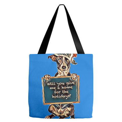 A Puppy Dog Sitting Up And Ho Tote Bags Designed By Kemnabi
