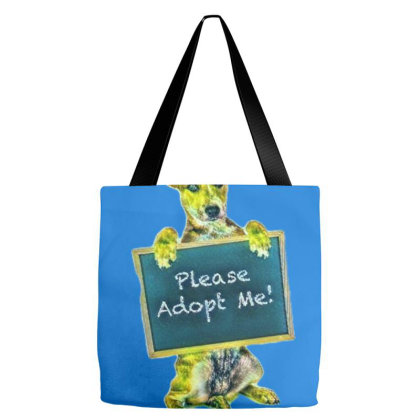 A Cute Crossbreed Puppy Holdi Tote Bags Designed By Kemnabi