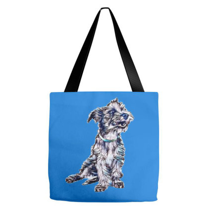 A Cute Scruffy Terrier Mixed Tote Bags Designed By Kemnabi