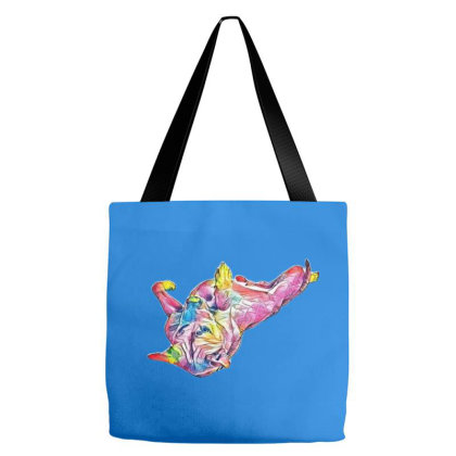 Labrador Retriever Dog Laying Tote Bags Designed By Kemnabi