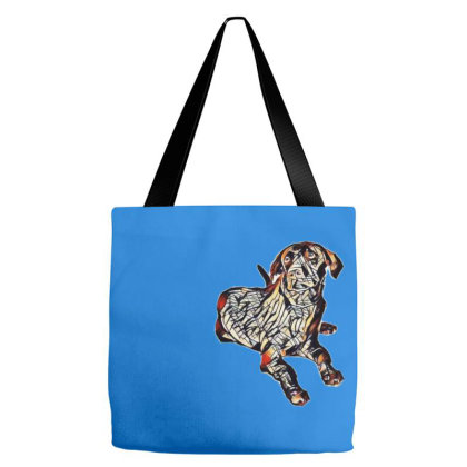 A Young Chocolate Labrador Re Tote Bags Designed By Kemnabi