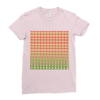 Coral Leaves Ladies Fitted T-shirt Designed By Anissu