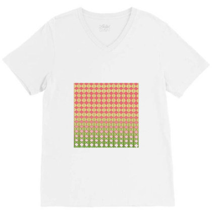 Coral Leaves V-neck Tee Designed By Anissu