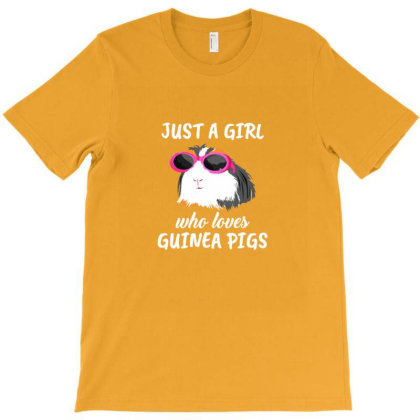 Womens Just A Girl Who Loves Guinea Pigs Clothes Guinea Pig T-shirt Designed By Asatya