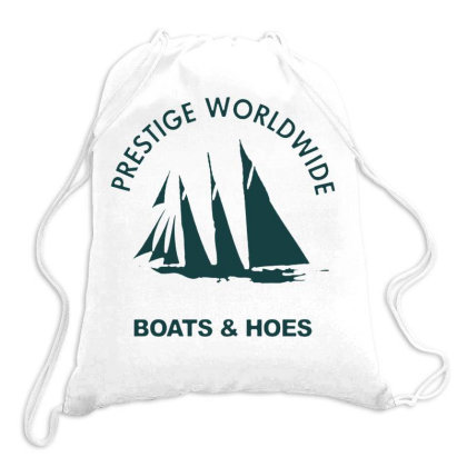 Boats N Hoes Drawstring Bags Designed By Cahyorin