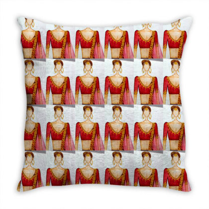 Bridal Print By The Art Basket Throw Pillow Designed By The Art Basket