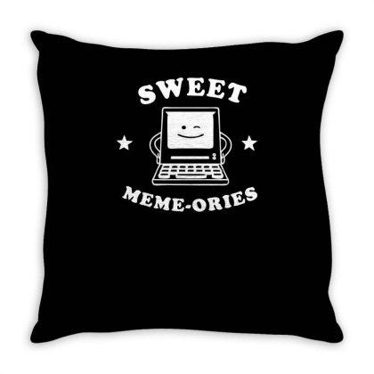 Sweet Meme Ories Funny Geek Throw Pillow Designed By Erishirt