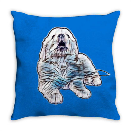 A Cute Little Puppy Laying Do Throw Pillow Designed By Kemnabi