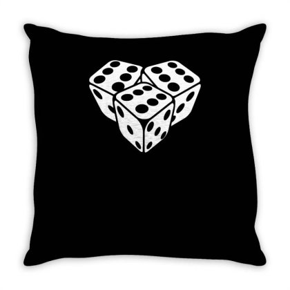 666 Dice Funny Throw Pillow Designed By Erishirt
