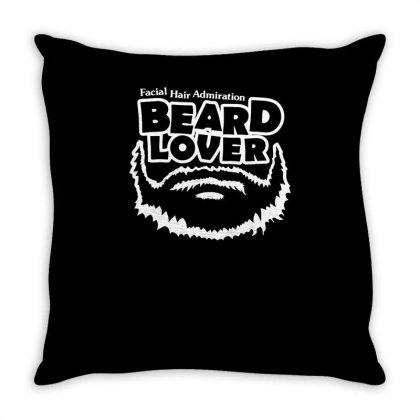 Beard Lover Throw Pillow Designed By Erishirt