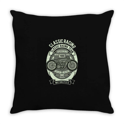 Classic Racing Throw Pillow Designed By Rulart