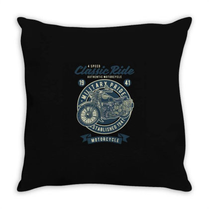Classic Ride Military Pride Throw Pillow Designed By Rulart