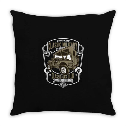Classic Military Offroad Throw Pillow Designed By Rulart