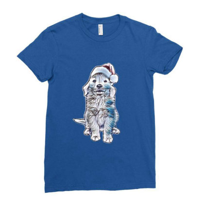 Golden Retriever Puppy Dog We Ladies Fitted T-shirt Designed By Kemnabi