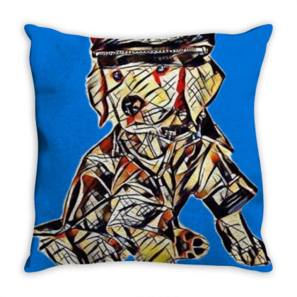 Golden Retriever Puppy With Adog In A B Throw Pillow Designed By Kemnabi