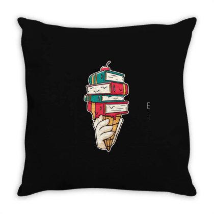 Book Ice Cream Throw Pillow Designed By Bakari10