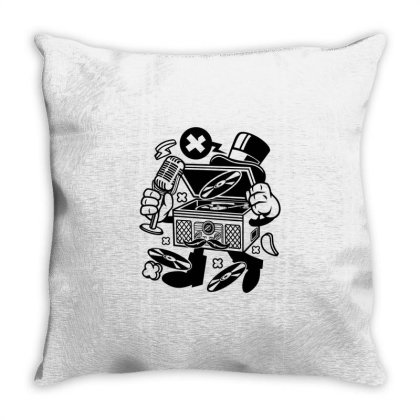 Classic Turntable Throw Pillow Designed By Rulart