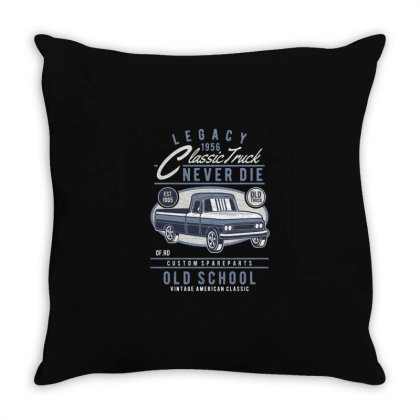 Classic Truck Throw Pillow Designed By Rulart