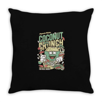 Coconut Crunch Throw Pillow Designed By Rulart