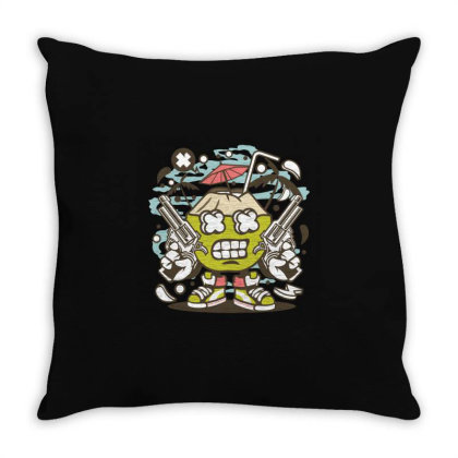 Coconut Killer Throw Pillow Designed By Rulart