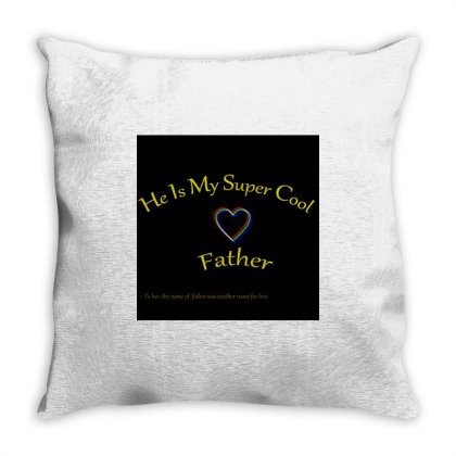 Fathers Day Throw Pillow Designed By Divya Pandey
