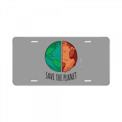 Save the planet License Plate | Artistshot