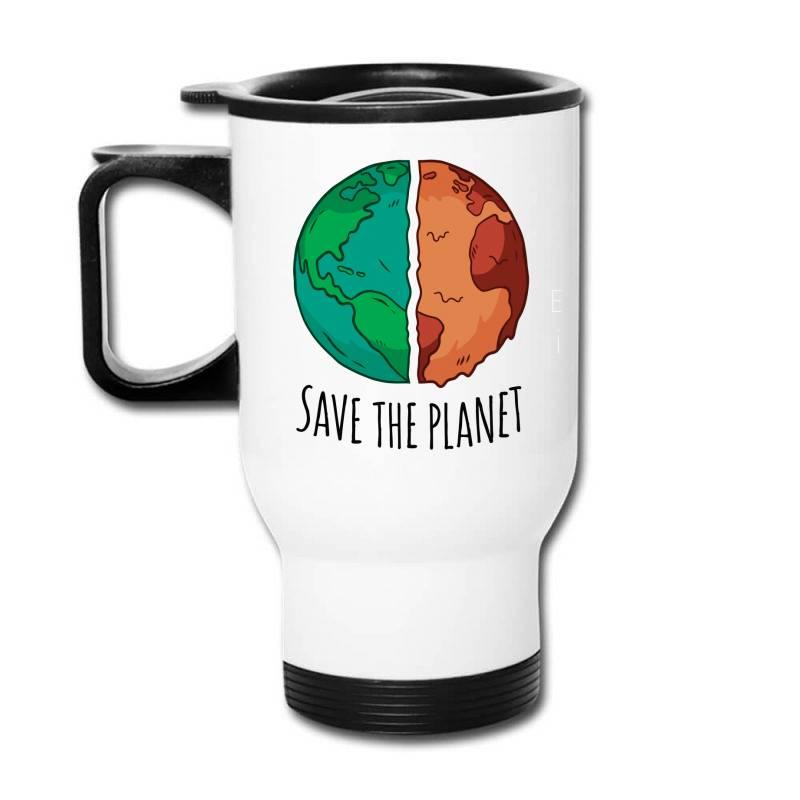 Save The Planet Travel Mug | Artistshot