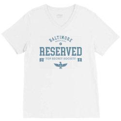 reserved secret society club V-Neck Tee | Artistshot