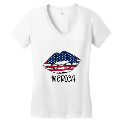 American Lip Women's V-neck T-shirt Designed By Bettercallsaul