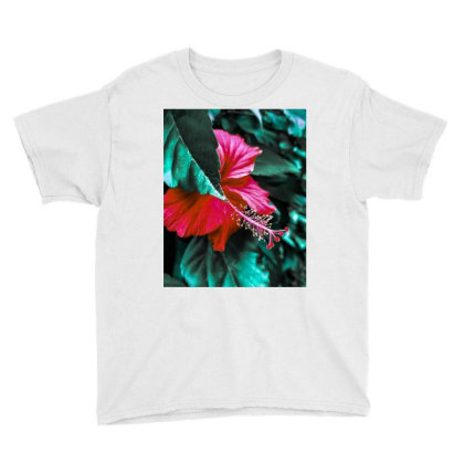 Hibiscus Youth Tee Designed By Kaamfaaltoo