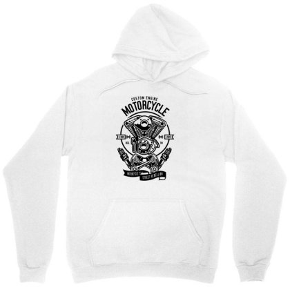 Custom Engine Motorcycle 1 Unisex Hoodie Designed By Rulart